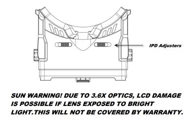 Fatshark Transformer Full Panel Viewer FPV Displayhalter FSV1103 bei Trade4me RC-Modellbau kaufen