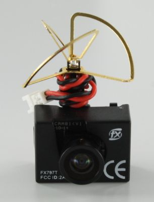 FXT FX797T Micro Camera incl. 25mW Transmitter for small Copter or Planes bei Trade4me RC-Modellbau kaufen