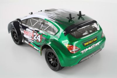 HSP Rally Car schwarz/grün 1:24 4WD  94248 bei Trade4me RC-Modellbau kaufen