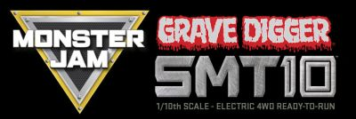 Hobbico Grave Digger Monster Jam Truck SMT10 1/10 4WD RTR AX90055 bei Trade4me RC-Modellbau kaufen