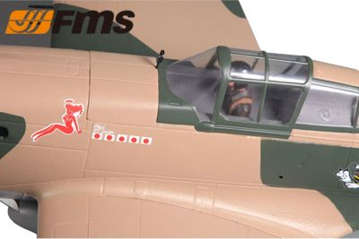 FMS P-40B Curtiss Warhawk Camo V2 Flying Tiger PNP 1400mm FMS081P bei Trade4me RC-Modellbau kaufen