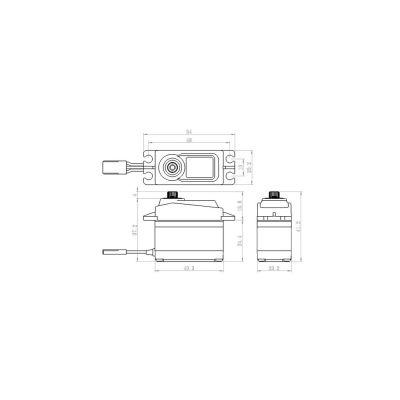 Savox Titan Alu Servo Flug Heli SA-1256TG bei Trade4me RC-Modellbau kaufen