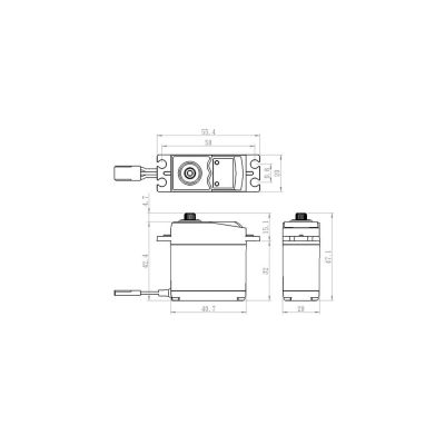 Savox SC-0251MG Metall Servo Car-Flug bei Trade4me RC-Modellbau kaufen