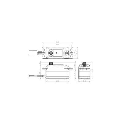 Savox Metallgetriebe Servo Car Flug SC-1251MG bei Trade4me RC-Modellbau kaufen