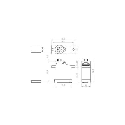 Savox SH-0254 Kunststoff Servo Flug bei Trade4me RC-Modellbau kaufen