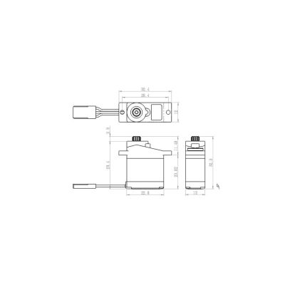 Savox SH-0255MG Metall-Ku Servo Flug bei Trade4me RC-Modellbau kaufen