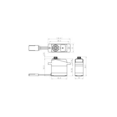 Savox SH-0263MG Metall-Ku Servo Heli Tau-Sch.450/250 bei Trade4me RC-Modellbau kaufen