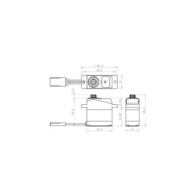 Savox SH-0264MG Metall-Ku Servo Heli Heck.450/250 bei Trade4me RC-Modellbau kaufen
