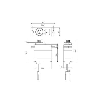 Savox SW-0250MG Metall Servo Flug-Car-Boot bei Trade4me RC-Modellbau kaufen