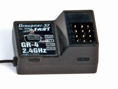 Graupner Receiver GR4 HoTT 2.4 GHz 2 Channel 33502 bei Trade4me RC-Modellbau kaufen