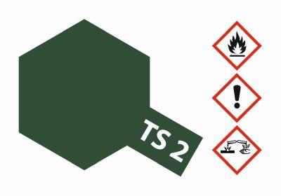 TAMIYA TS-2 Dunkelgrün matt 100ml 300085002 bei Trade4me RC-Modellbau kaufen