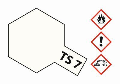 TAMIYA TS-7 Racing-Weiss glänzend 100ml 300085007 bei Trade4me RC-Modellbau kaufen