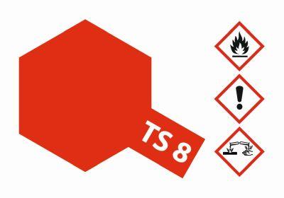 TAMIYA TS-8 Italienisch Rot glänzend 100ml 300085008 bei Trade4me RC-Modellbau kaufen