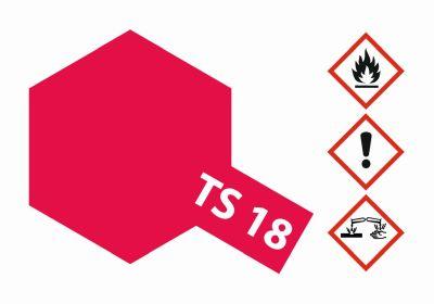 TAMIYA TS-18 Metallic Rot glänzend 100ml 300085018 bei Trade4me RC-Modellbau kaufen