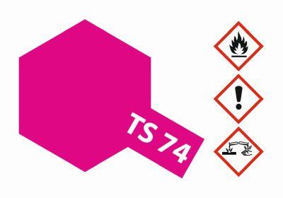TAMIYA TS-74 Rot Transparent/Klar glänz. 100ml 300085074 bei Trade4me RC-Modellbau kaufen
