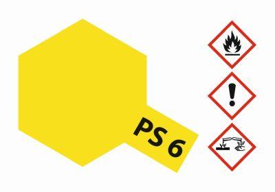 TAMIYA Farbe PS6 Gelb Polycarbonat 100ml 300086006 bei Trade4me RC-Modellbau kaufen