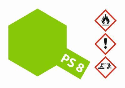 TAMIYA Farbe PS8 Hellgrün Polycarbonat 100ml 300086008 bei Trade4me RC-Modellbau kaufen