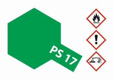TAMIYA Farbe PS17 Metallic Grün Polycarbonat 100ml 300086017 bei Trade4me RC-Modellbau kaufen