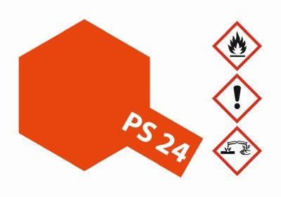TAMIYA Farbe PS24 Neon Orange Polycarbonat 100ml 300086024 bei Trade4me RC-Modellbau kaufen