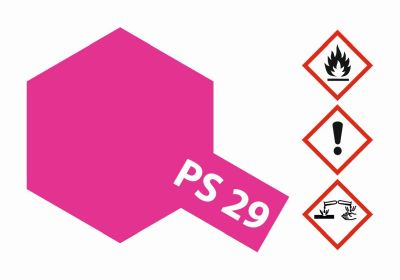 TAMIYA Farbe PS29 Neon Rosarot Polycarb. 100ml 300086029 bei Trade4me RC-Modellbau kaufen