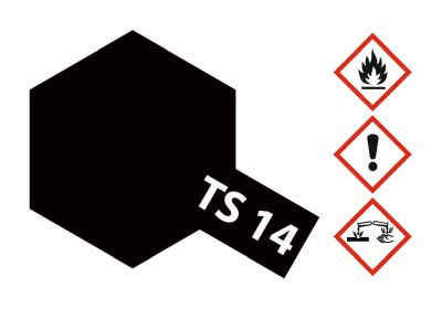 TAMIYA Farbe TS-14 Schwarz glänzend 100ml 300085014 bei Trade4me RC-Modellbau kaufen