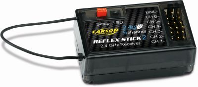 Carson Transmitter Reflex Stick II 2.4 GHz 6 Channel 500501006 bei Trade4me RC-Modellbau kaufen