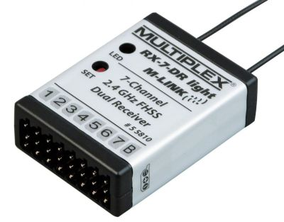 Multiplex Empfänger RX7DR light MLINK 2,4 GHz 55810 bei Trade4me RC-Modellbau kaufen