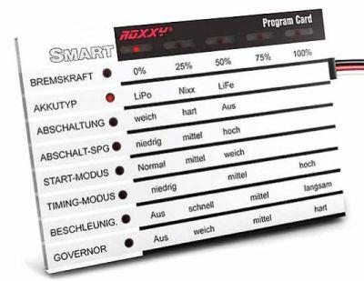 Multiplex ROXXY Smart Programm Card deutsch 318576 bei Trade4me RC-Modellbau kaufen