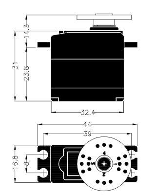Multiplex Servo HS-225BB 112225 bei Trade4me RC-Modellbau kaufen