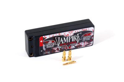 Vampire-Racing Hardcase LiPo 2000mAh 50C 7.4V 2S 1/18 VR-1025 bei Trade4me RC-Modellbau kaufen