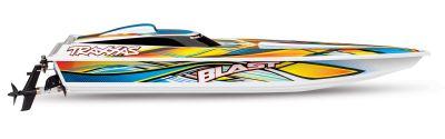 TRAXXAS TRAXXAS BLAST Boot  weiß/orange +12V-Lader+Akku TRX38104-1ORNG bei Trade4me RC-Modellbau kaufen