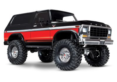 TRAXXAS TRX-4 Ford Bronco black/red 4x4 RTR without Accu/Charger TRX82046-4RED bei Trade4me RC-Modellbau kaufen