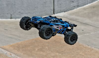 TRAXXAS Rustler 4x4 blue RTR +12V-Charger+Accu TRX67064-1BLUE bei Trade4me RC-Modellbau kaufen