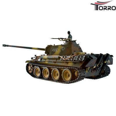 Torro Panther G Profi Metallausführung BB Version Braun/TarnTORRO Panzer mit Holzkiste 1213879500 bei Trade4me RC-Modellbau kaufen